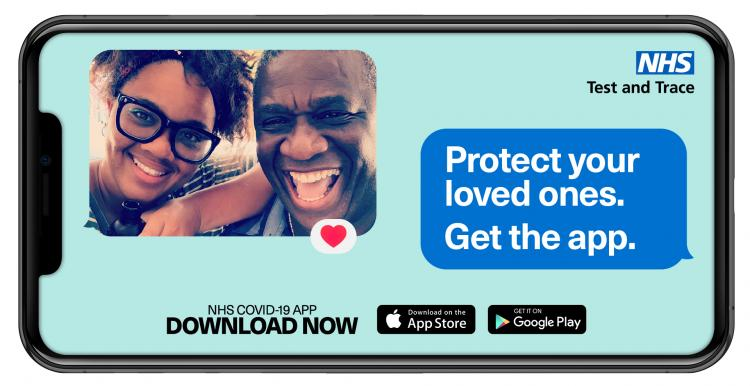 Mobile Phone with text saying 'Protect Your Loved Ones. Get the App.'