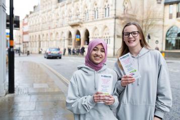 Young volunteers promoting Healthwatch