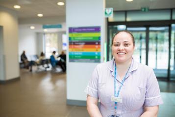 A nurse in a hospital