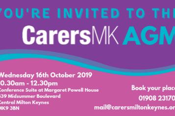 Carers MK AGM invite