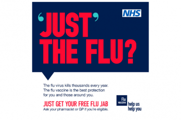 Get your free flu jab poster