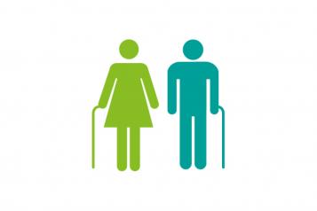 infographic of elderly people